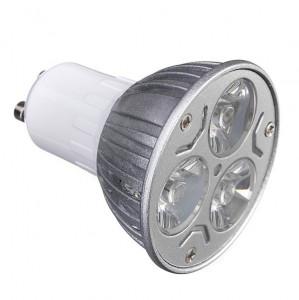Bec spot led, 3W, 3 x 1W, 3 led-uri, soclu GU10, 220V, lumina rece, VKTools
