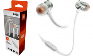 Casti audio In-ear JBL T290SIL, Pure Bass Sound, Hands-free Call, Gri