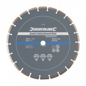 Disc circular segmente, granit 300 x 20mm, Silverline