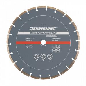 Disc circular segmente marmura, 300 x 20mm, Silverline