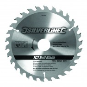 Disc circular TCT 30T0 ° , 30 dinti , 184 mm x 30 mm , Silverline TCT Nail Blade 30T