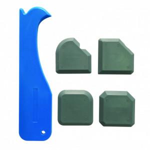 Dispozitiv etansat / intins si scos siliconul , kit 5 piese , Silverline Joint Smoothing Kit 5pce