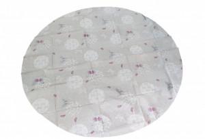 Fata de masa rotunda, 155cm, 100% polipropilen, oeko-tex standard 100, model fluturi, VKTools