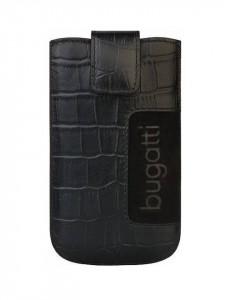 Husa de protectie universala , piele naturala , negru, 122 x 73mm, Bugatti