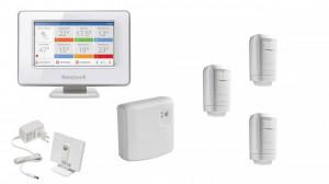 Kit automatizare centrala termica, 3 cap robineti termostat wi-fi, panou comanda ecran LCD touchscreen wi-fi, modul comanda centrala, Honeywell Evohome