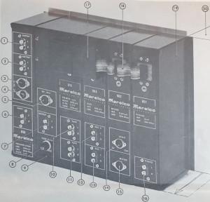 Modul mixer vintage, modul 605, Marleco electronics