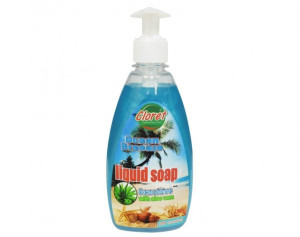 Sapun lichid, 500ml cu dispenser manual, Ocean Breeze, extract Aloe Vera, PH - control, Cloret