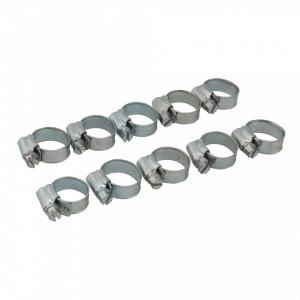 Set 10 coliere metalice profesionale, 10-16mm, Fixman
