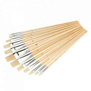 Set 12 pensule pictura, maner lemn natural, 1-12mm, Silverline