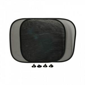 Set 2 protectii solare auto cu ventuza,parasolar,  400x360mm, Silverline