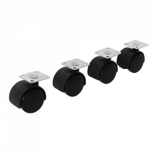 Set 4 roti mobilier aplicabile, 38mm, Fixman