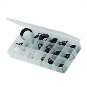 Sigurante tip C , trusa de plastic compartimentata , 255 piese , 6-29mm , Silverline