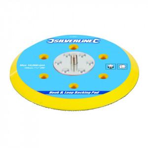 Suport disc abraziv cu arici 150mm, pentru slefuitoare pneumatice sau electrice, Silverline Hook & Loop Backing Pad