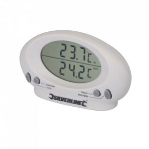 Termomentru digital cu senzor fir exterior, -50 / 50 grade, Silverline