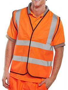 Vesta reflectorizanta portocaliu, marimea M, 94-102, inchidere Velcro, Bseen
