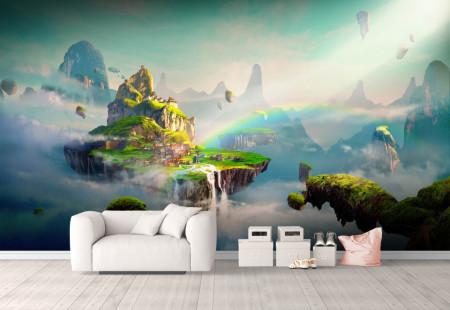 Fototapet 3D, O insulă deluroasă misterioasa