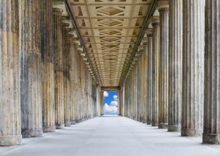 Fototapet, Coridorul cu coloane