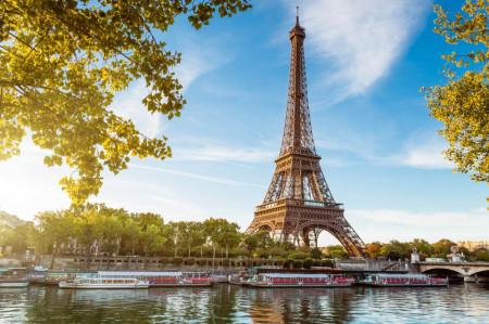 Fototapet, Dimineața frumoasă la Paris