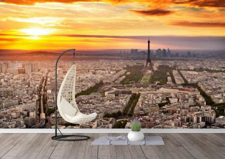 Fototapet, Franța la apus de soare