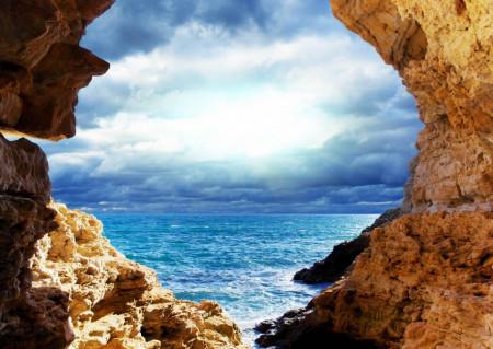 Fototapet, Peșterea cu vedere la mare