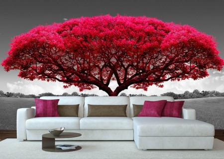Fototapet, Un copac roz