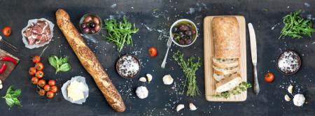 Multicanvas, Mâncare pe un fond negru