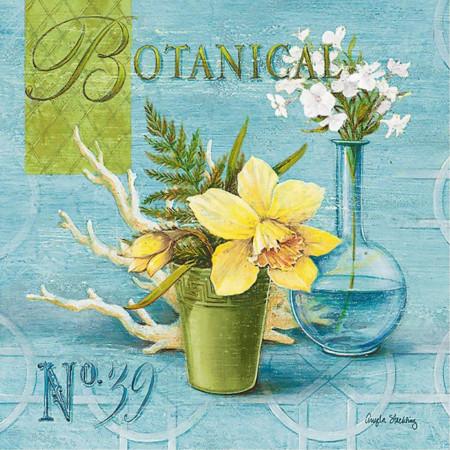 Tablouri Canvas, Floarea galbenă pe un fond albastru