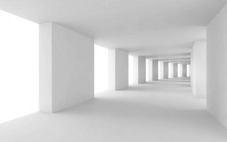 Fototapete 3D, Coridor cu pereți albi