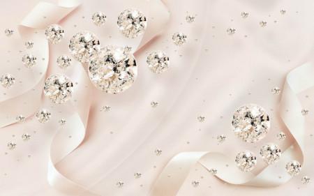 Fototapete 3D, Cristale pe un fundal drăguț