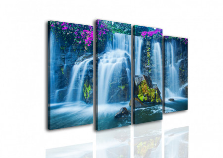 Multicanvas, Cascade și flori de liliac