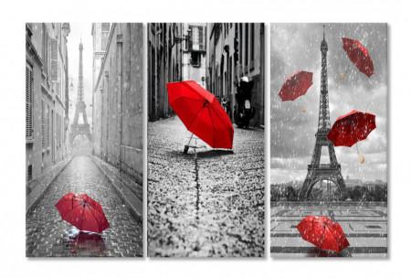 Multicanvas, O umbrelă roșie.