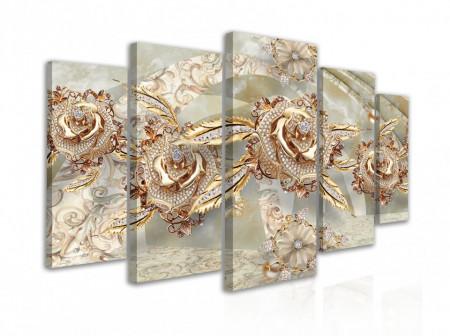 Tablou modular, Pietre prețioase pe mătase