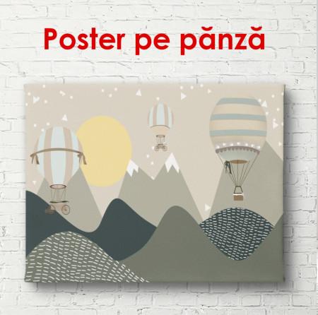 Poster, Baloane cu aer cald în munți