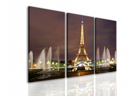 Tablou modular, Parisul noaptea.
