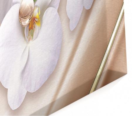 Tablou modular, Sferă bej pe un fundal de mătase.