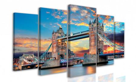 Tablou modular, Tower Bridge la apusul soarelui