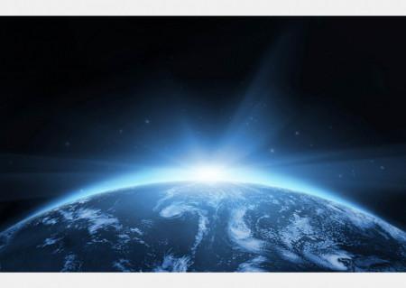 Fototapet Astronomie, Răsarit de soare în cosmos
