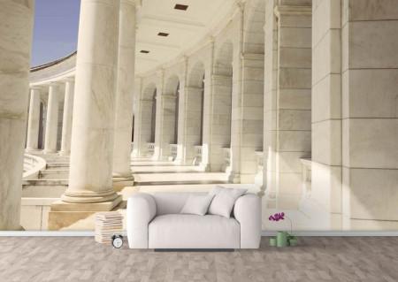 Fototapet, Clădirea cu coloane