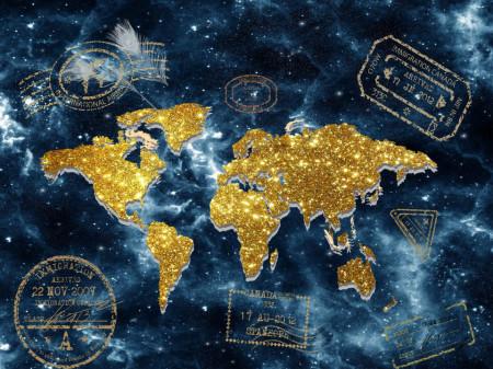 Fototapet, Harta lumii abstracte