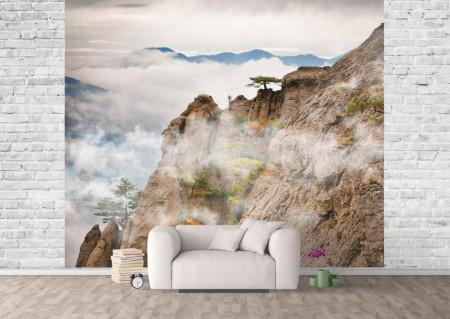 Fototapet Nori în munți