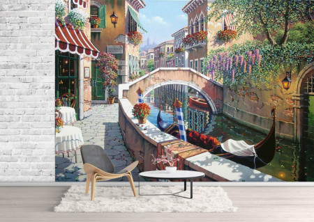 Fototapet, O Priveliște la o stradă din Veneția
