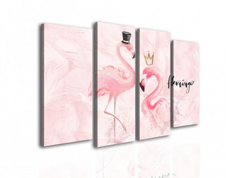 Tablou modular, Domnul și doamna flamingo