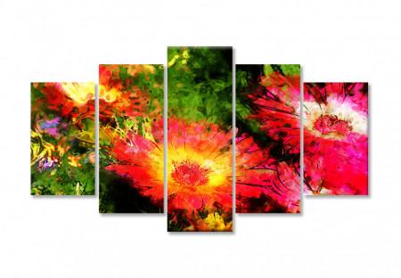 Tablou modular, Flori de primavară