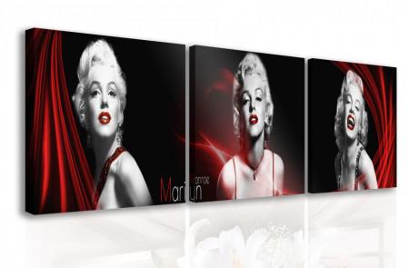 Tablou modular, Marilyn Monroe pe un fundal negru