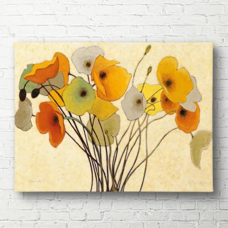 Tablouri Canvas, Maci galbene pe un fundal deschis