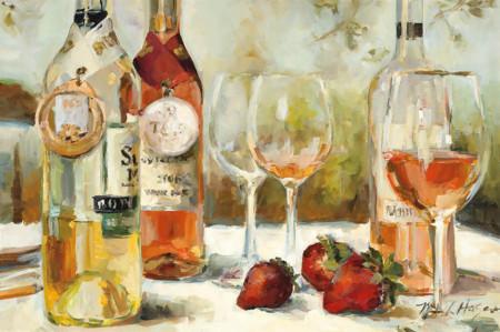 Tablouri Canvas, Masa cu sticle de vin