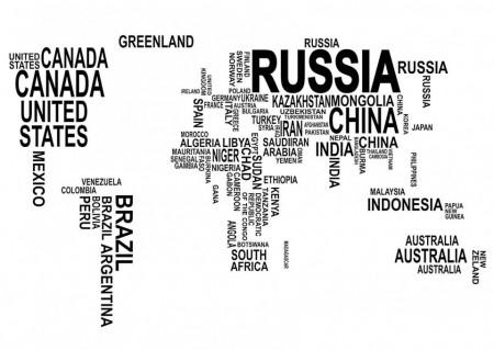 Fototapet, Harta lumii originală