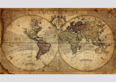 Fototapet, O hartă a lumii străveche