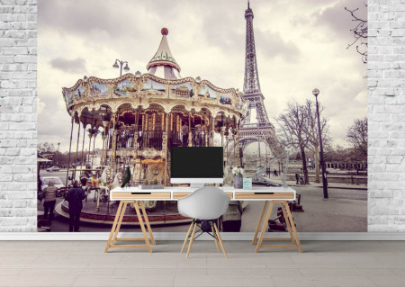 Fototapet, Un carusel din Paris