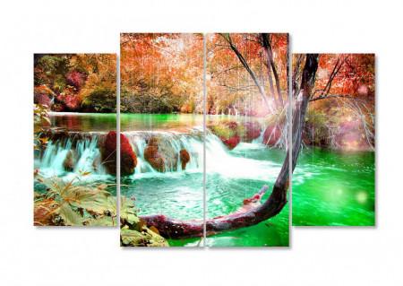 Multicanvas, Cascada în pădurea de toamnă